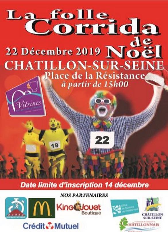 La folle corrida de Noël se prépare, organisée par les Vitrines Châtillonnaises !