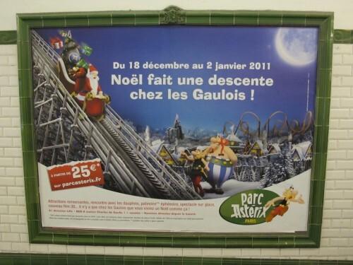 affiche Noël Parc Astérix
