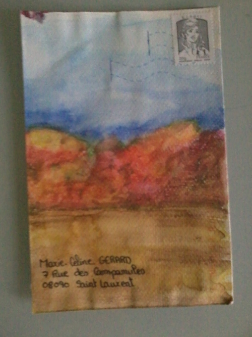 Mail art aquarelle de Granouche