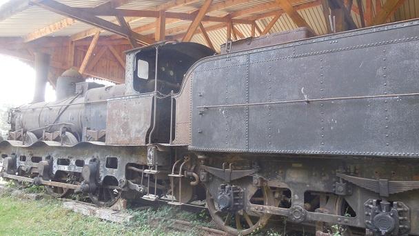 La collection de locomotives à vapeur du Château de St-Fargeau .
