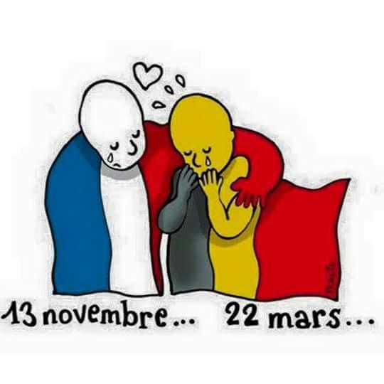 Courage à nos amis Belges ...