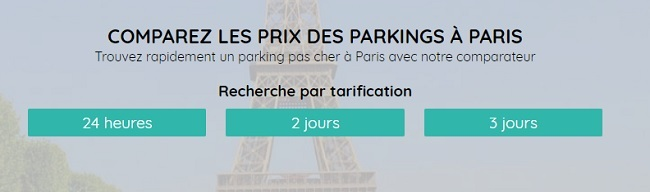 location parking paris au mois