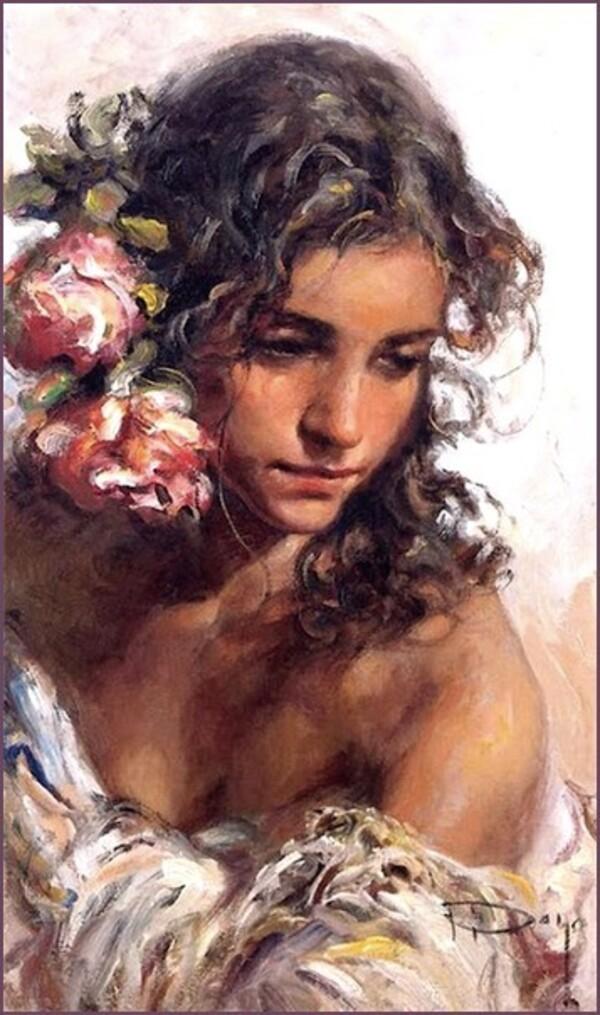 Royo-Jose--1941--Portrait-de-femme-et-fleurs.jpg