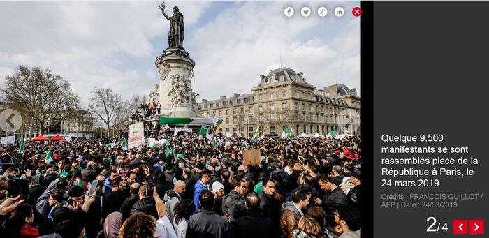 """Algérie : en France, les manifestants veulent """"libérer le pays une deuxième fois"""""""