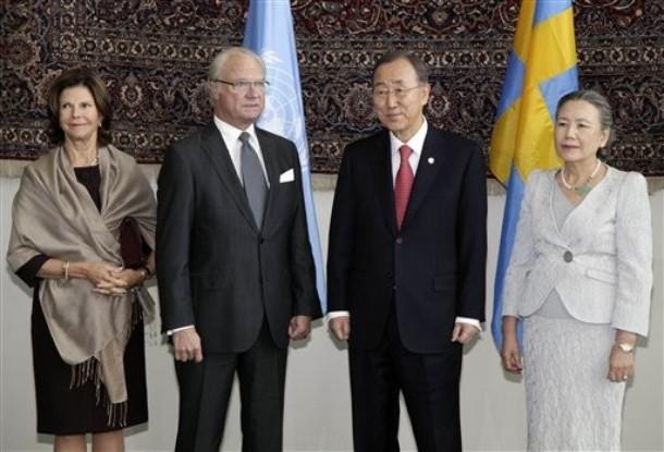 Les souverains suédois à l'ONU