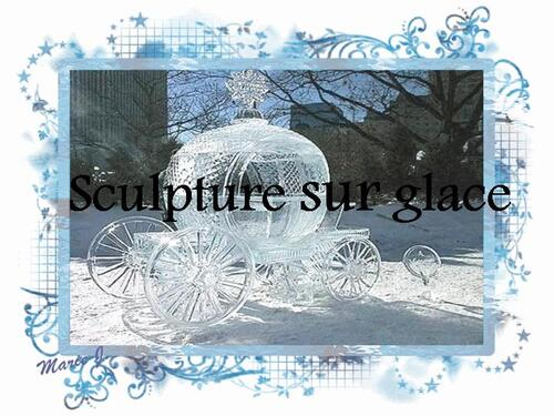 PPS MES CREATION sculpture sur glace
