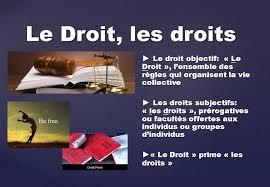 definition droit subjectif,defintion droit objectif,distinction droit objectif subjectif,sources droit subjectif