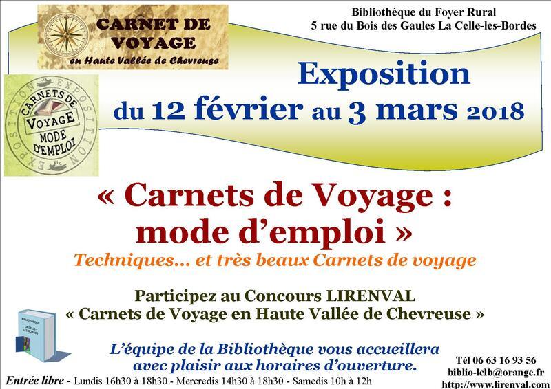 """Exposition """"Carnets de voyage : mode d'emploi"""" 12 février au 3 mars 2018"""