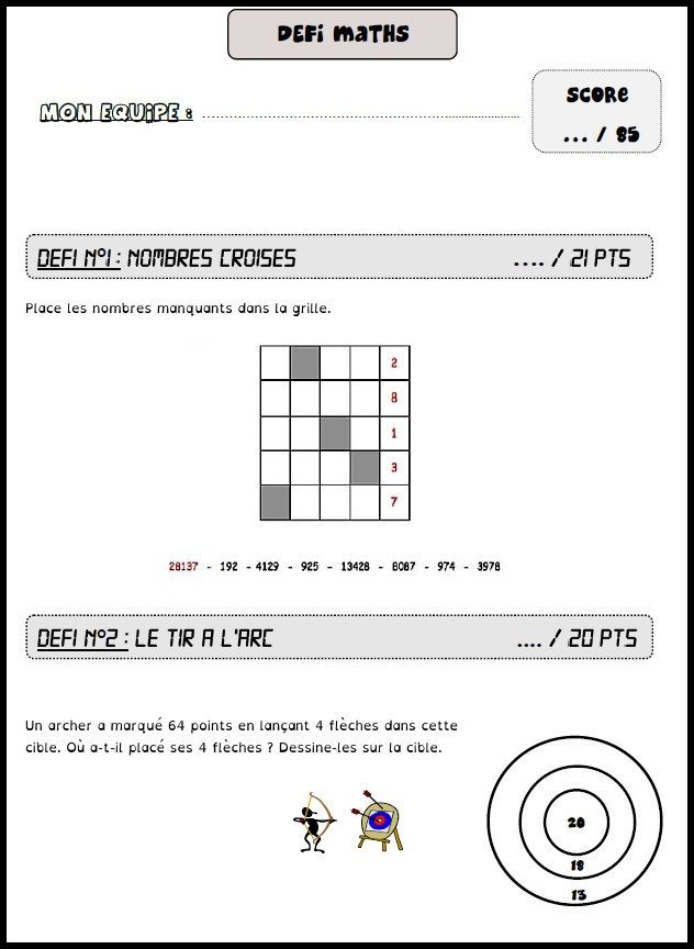 image défi maths 13