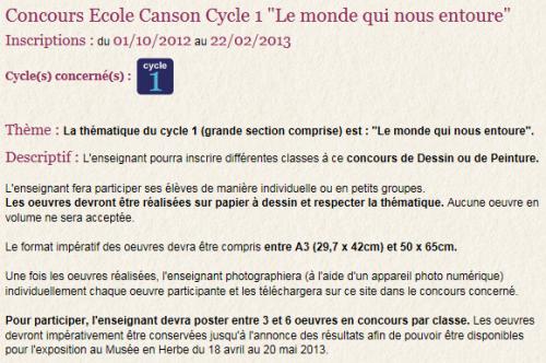 Concours dessin Canson