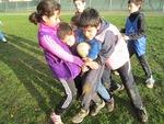 Séance de rugby très boueuse