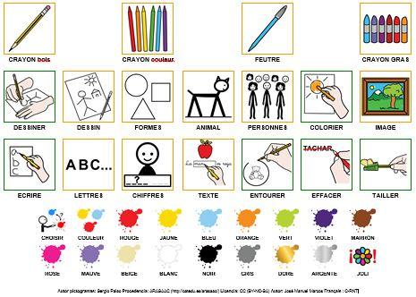 Dessiner et colorier en pictogrammes Arasaac