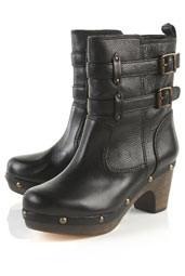 Pretzel Buckle clog boot topshop 125