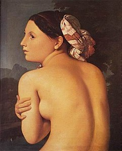 Half figure of a Bather