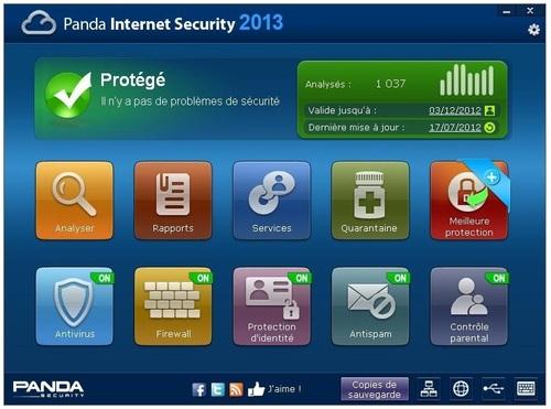 Panda Internet Security 2013 - Licence 90 jours gratuits