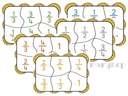 Bingo Galettes - Jeu sur les fractions
