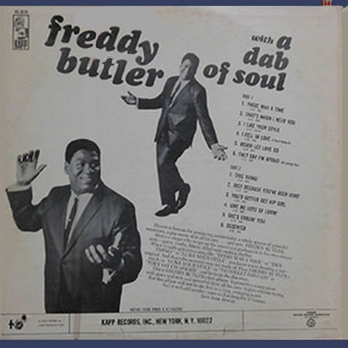 "Freddy Butler : Album "" With A Dab Of Soul "" Kapp Records KS-3519 [ US ]"
