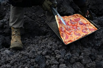 Une pizza volcanique ...