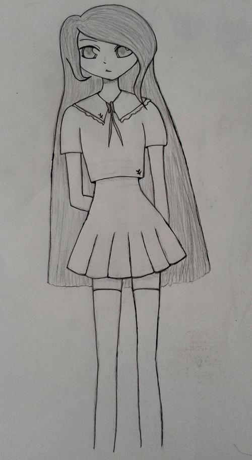 "Dessin ""fille manga"" #2"