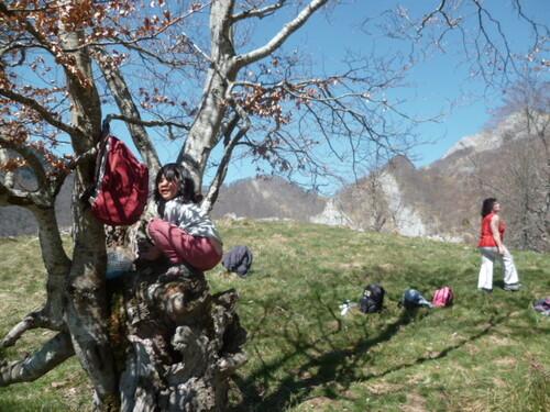 Famille/nonsco : sur les hauteurs de Ourde (Barousse) - 65
