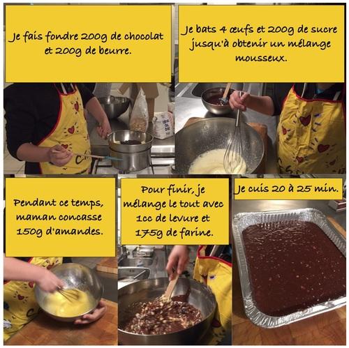 un brownie au chocolat.