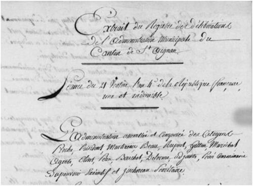 Palluau-sur-Indre, 1796 (2ème partie)....
