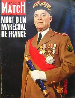 Mort d'Alphonse Juin, dernier maréchal de France