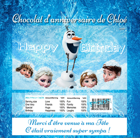 Reine des neiges documents tablette de chocolat
