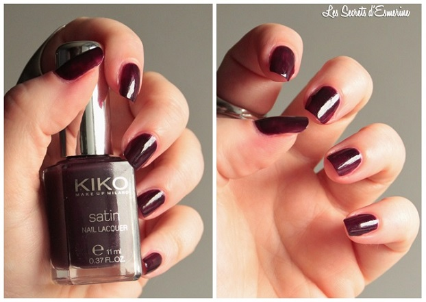 dark, cherry, 446, vernis, Collection, Satin, Nail, Lacquer, Kiko