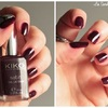Dark cherry - 446 - collection Satin nail lacquer - KIKO
