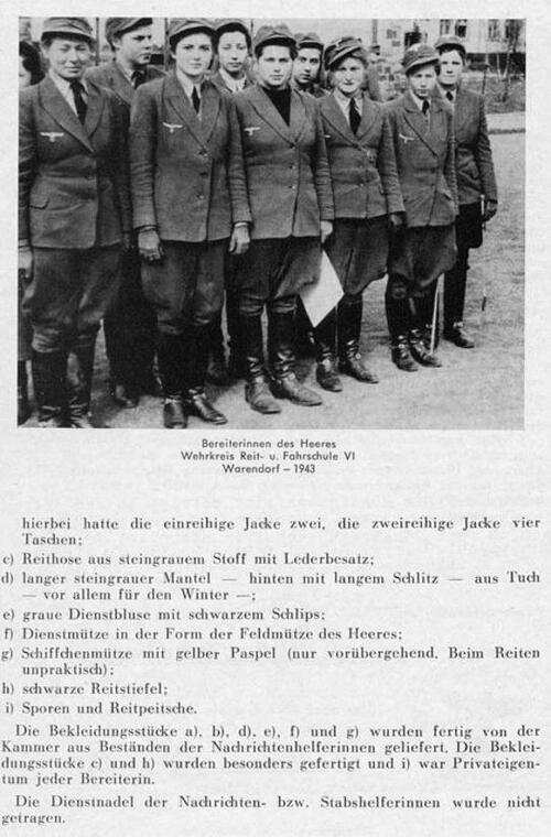 CAVALIERES ALLEMANDES pendant la seconde guerre mondiale