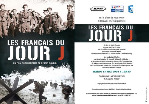 """Invitation à la projection """"Les français du Jour J"""" le"""