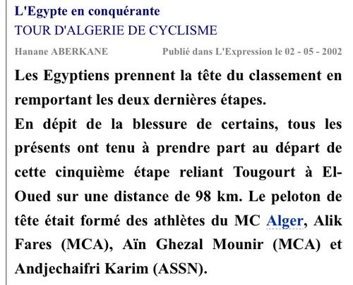 AIN GHAZAL Mounir