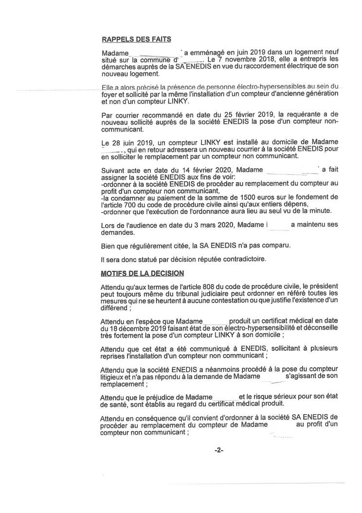 Grenoble >> une electrosensible gagne en appel contre Enedis
