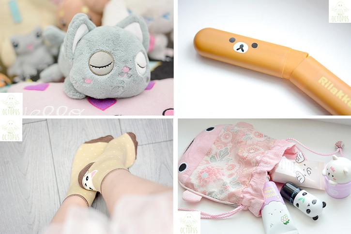 Chezfee.com objets chat cosmétiques coréens peluche maison kawaii - Magic octopus blog