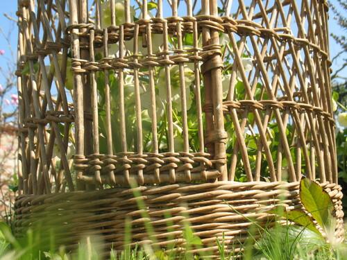 cage oiseau rotin