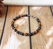 Bracelets pierres - Hématite, Onyx, Grenat, Oeil du tigre, Jaspe, Pyrite, Lapis-lazuli