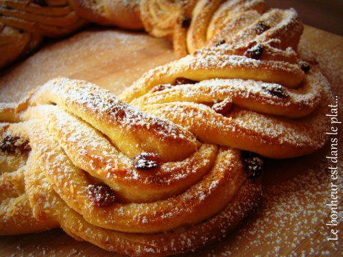Kringle aux raisins