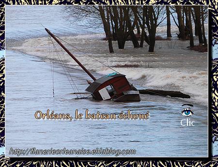 Orléans, le bateau échoué