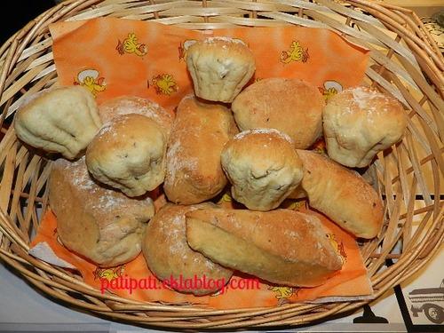 Différentes forme de petits pains