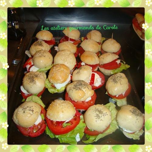 Les mini hamburgers