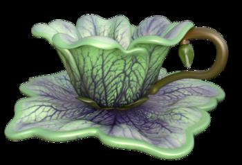 Image service à thé fantasy (tube)