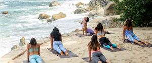 dance ballet class yoga beach class