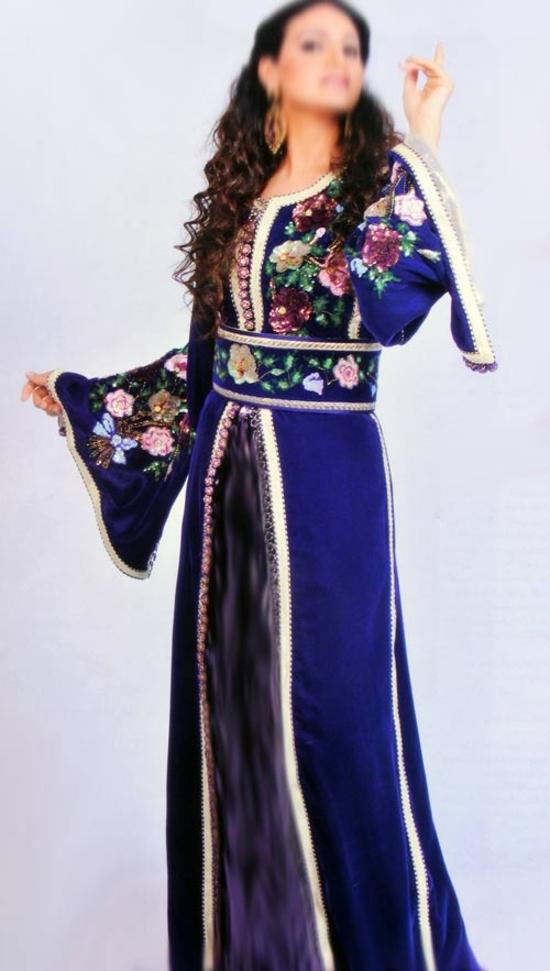 Takchita marocaine bleu ciel TAK-S6301