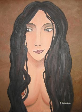 Peinture à l'Huile Rosa