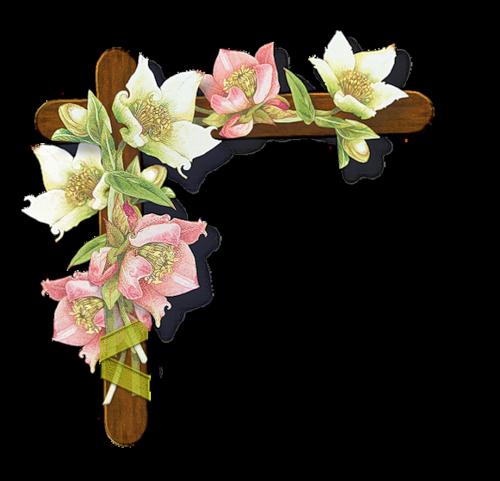 Coins (fleuris) Pour Vos créations Série 11