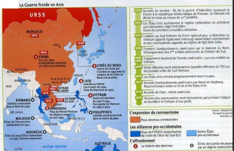 La Guerre froide en Asie (Japon, Chine, Corée)
