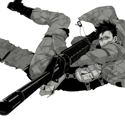 Image de gangsta, anime, and gun