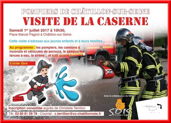 les enfants et leurs parents vont pouvoir visiter la caserne des Pompiers de Châtillon sur Seine