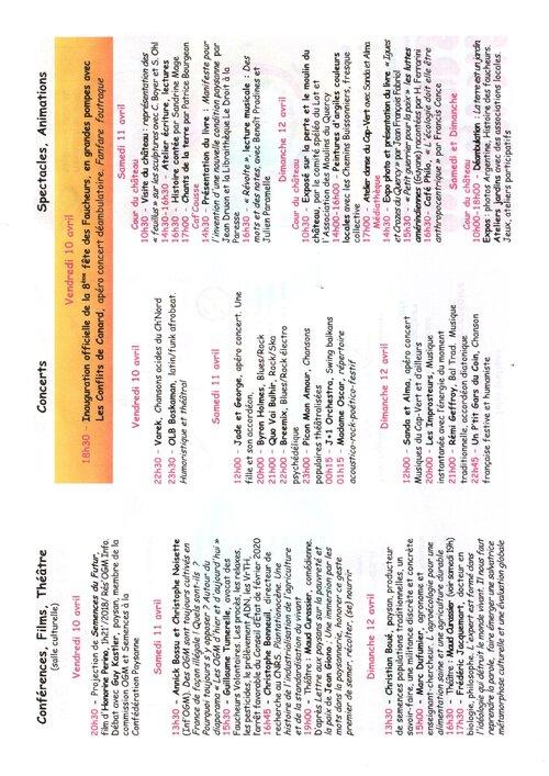 10 11 12 Avril 2020  Fête des Faucheurs ASSIER (46)